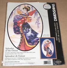 """Dimensions """"Splendor of the Orient"""" Beautiful Woman Stamped Cross Stitch Kit NIP"""