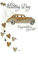 Wedding Day Congratulations Luxury Champagne Greeting Card Hand-Finished Cards