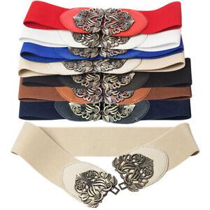 Fashion Buckle Women's Cummerbund Elastic Wide All-match Belt Decoration Strap
