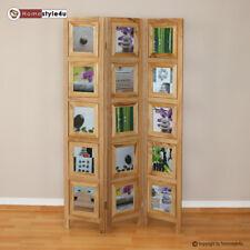 3 fach Paravent Raumteiler Holz Trennwand natur Foto Fotowand Bilder Shabby