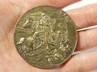 1925 Silver STUART HEATON CLEAN MILK SUFFOLK Medal in Case Dairy Farmer #BDFA2