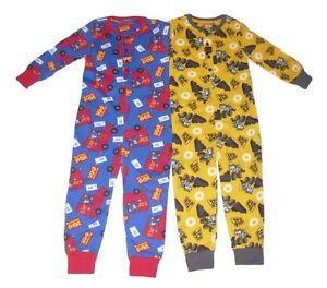 Boys Jump suit Pyjamas Postman Pat Or Jcb Digger