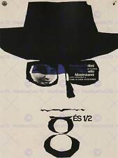 ADVERT CULTURAL FILM 8 HALF FELLINI HUNGARY HAT GLASSES POSTER BB2200B