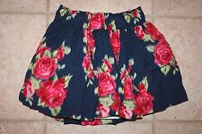 NWT Abercrombie & Fitch Womens XS Elast Waist Flower Double Layered Skirt