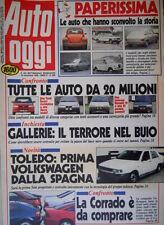 Auto Oggi 206 1990 Toledo: 1° VW dalla Spagna. Corrado è da comprare [Q106]