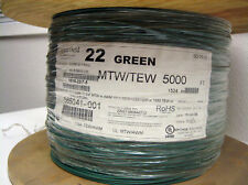 Green 22 AWG Hookup Wire UL1015  5000' RoHS Compl.