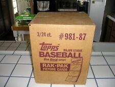 1987 TOPPS BASEBALL UNOPENED 3 BOX RACK CASE / BONDS (R) LARKIN (R)