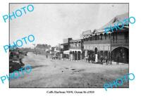 OLD LARGE PHOTO COFFS HARBOUR NSW VIEW OF OCEAN STREET c1910