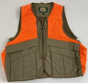 Cabelas Mens Medium Hunter Orange Vest Cotton Canvas