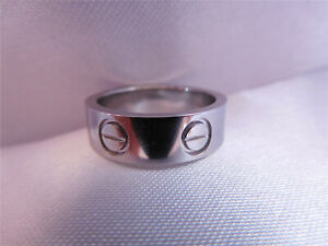 Authentic Cartier LOVE RING 18K White Gold SIZE US8