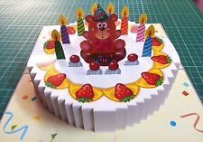 3D Pop up Birthday GREETING CARD Handmade Folding 3_D Gift Cake4 India Make