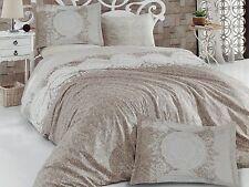 6 tlg Bettwäsche Bettgarnitur Bettbezug 100% Baumwolle Kissen 220x240 cm ZÜMRT C