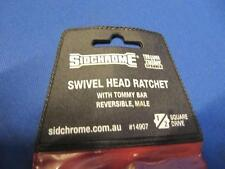 "Sidchrome Cat No 14932 swivel head 1/2"" dve ratchet in bag like new old tools!!"