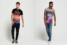 Superdry Mens Shirt Shop Panel All Over Print T-Shirt