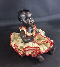 Ancienne vintage poupée noire - Poupon en celluloïd