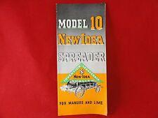 Model 10 Spreader New Idea Farm Equipment Brochure Fold-out Vintage Manure Lime
