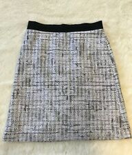 Escada Sport Black White Tweed Pencil Straight Skirt Size 42