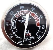 """New listing 3"""" Tel-Tru Thermometer Bbq 300 Oven Grill Smoker Black 4"""" stem"""