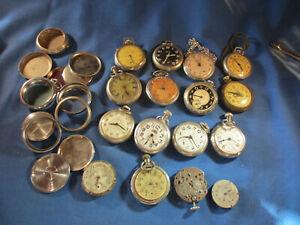 Watchmaker Estate Vintage LARGE LOT of Dollar Pocketwatches Bulls Eye, Westclox+
