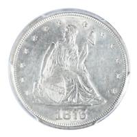 1875 Seated Liberty Twenty Cent Piece PCGS AU58