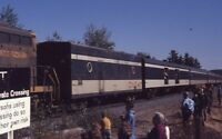 CN Canadian National Railroad Train Passenger Cars ALLENS ME 1971 Photo Slide 2