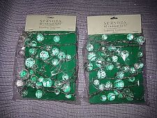 Seasons of Cannon Falls Clear Acrylic Faceted Garland On Wire 2 Pkgs 6 Ft Ea NEW