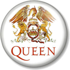"QUEEN CREST 25mm 1"" Pin Button Badge Rock Band Freddie Mercury Bohemian Rhapsody"