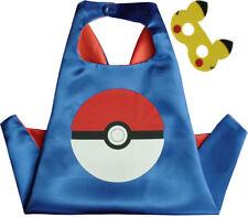 Blue Pokemon Pokeball Superhero Cape & Mask