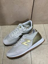 New Balance 620 Athletic Running Shoes Womens 8 US Cream Gold Low Top CW620JD2