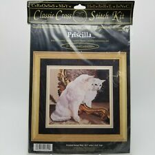 Counted Cross Stitch Kit White Britsh Shorthair Kitty Cat Lover Priscilla