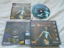 Tomb Raider 1 original PS1 (BIG BOX COMPLETE) rare black label Sony PlayStation