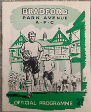 More details for bradford park avenue v gateshead 1959/60