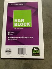 ~H&R Block Deluxe + State 2018 New Sealed