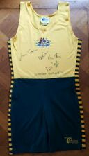 RARE 1996 ATLANTA GOLD MEDAL OLYMPIC GAMES MEN'S COXLESS FOUR SIGNED UNISUIT