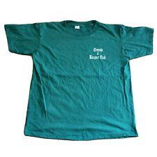Vintage Champion Green Cotton T-Shirt Tennis Racquet Club Mens Size XL Cotton