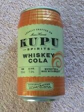 Empty Kupu Spirits Whiskey Cola 12 oz Craft (not) Beer Can Maui Hawaii