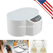 Professional Ultrasonic Cleaner Bath For Cleanning Jewelry Watch Glasses Lens US