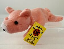 Rare Vintage Skansen Beanie Kids, Curly The Pig, 1997, Toy, Swing Tag #2
