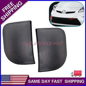 FOR 2012-2015  TOYOTA Prius 2PCS Black Front Bumper Tow Eye Hook Cover Cap