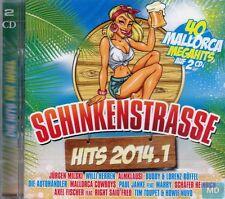 Original SCHINKENSTRASSE Mallorca Hits 2014 .1 + 2 CD Set 40 Ballermann Megahits