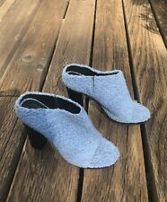 Tibi Powder Blue Panda Mule