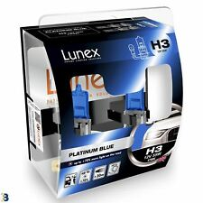 H3 Auto Lampadine Alogene Faro Fanale Blu Lunex Platinum Blue 4700K Set