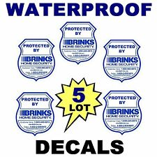 5  HOME SECURITY MONITORING SYSTEM ALARM WINDOW DECALS WARNING STICKER