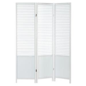 B-Ware 3 fach Paravent Raumteiler Holz Trennwand  Sichtschutz Weiß Homestyle4u