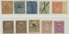 Colombia Telegraph Stamps 10v c. 1885 MH/Used