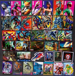 Comic Cards, Huge Lot, Heroes & Villains, Marvel, Wildcats, Fortnite, Spider-Man