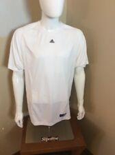 Men's White ADIDAS Short Sleeve Athletic Shirt Size Large