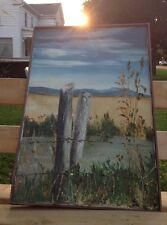 "C. Fanjoy ""Deathscape: Matthew Shepherd"" 24 x 36 ORIGINAL OIL Painting canvas 99"