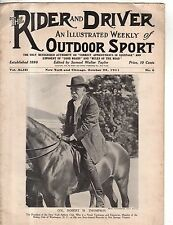 1911 Rider and Driver October 28 - Fire horses; Clydesdales, hunters, jumpers