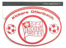 Kickers Offenbach OFC Aufkleber Sticker Logo Bundesliga Fussball #628